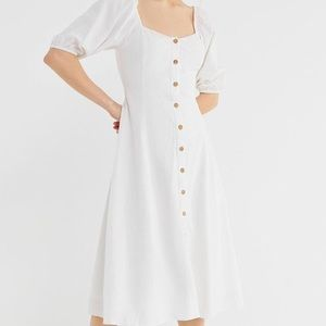Urban Outfitters Puff Sleeve Maria Midi Dress